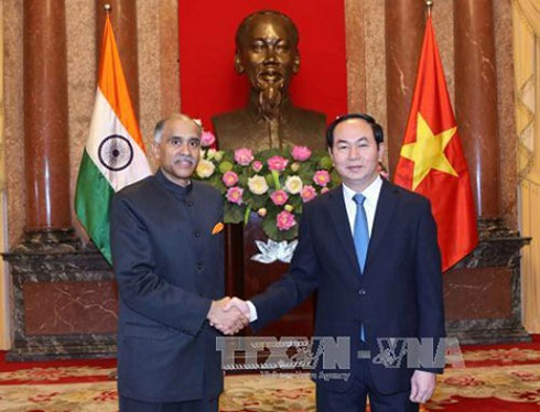President Tran Dai Quang receives Ambassadors to submit credential letters