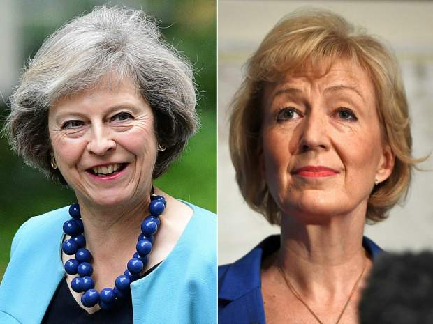 Two female candidates stand for election to Britain's prime minister office