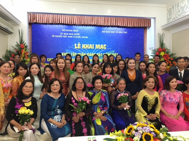 Vietnamese language training for overseas Vietnamese teachers
