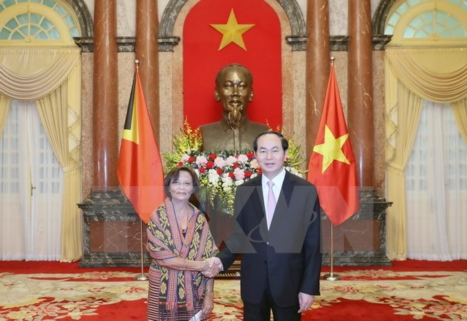 president received new foreign ambassadors hinh 0