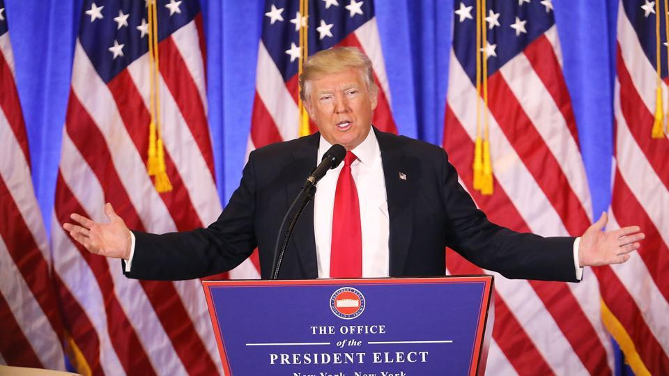 Economic topic at US President-elect Donald Trump press conference