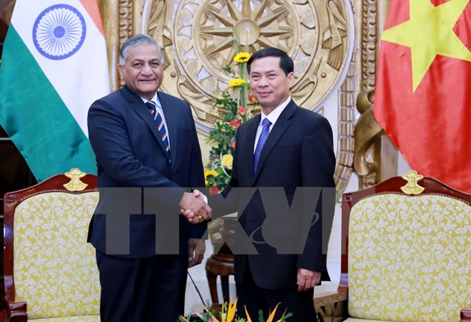 deputy foreign minister meets indian minister of state for external affairs  hinh 0