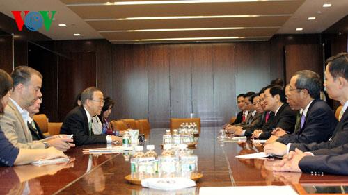 President Truong Tan Sang meets UN Secretary General News