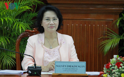National Assembly Chairwoman meets Vietnamese diplomats