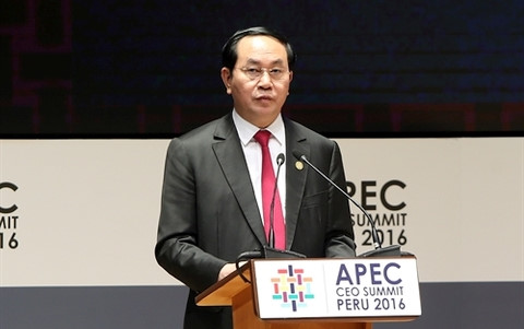 President Tran Dai Quang calls for ideas for APEC Year 2017