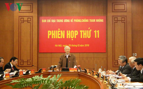 party leader urges stronger actions to fight corruption hinh 0