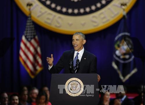President Barack Obama's farewell speech seals trust on the US future (Photo: AFP/VNA)