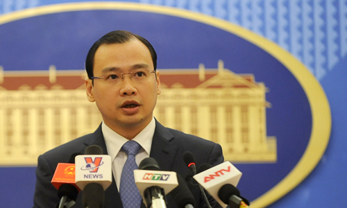 Vietnam's Foreign Ministry spokesperson Le Hai Binh (Photo: Quy Doan)