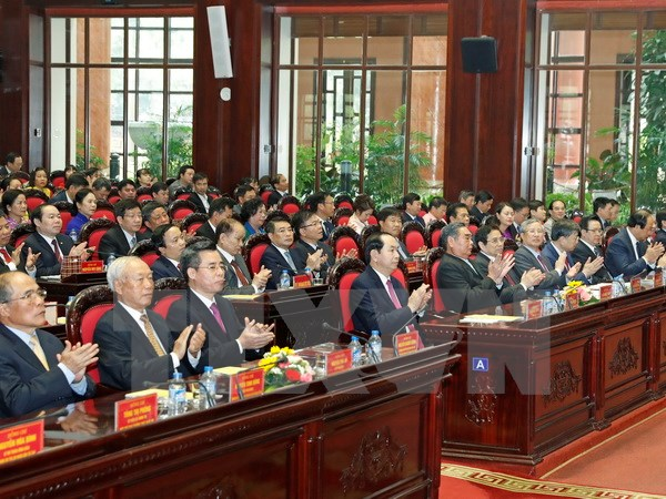 President attends 10th founding anniversary of Central Agencies' Party Committee