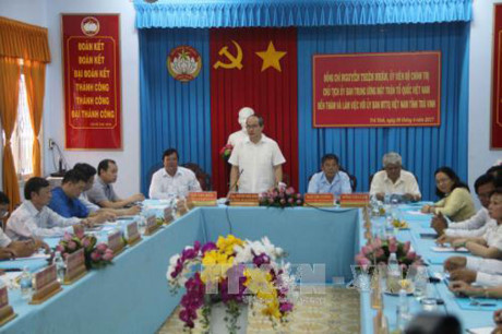 Vietnam Fatherland Front President pays New Year visit to Tra Vinh