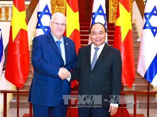 pm vietnam, nguyen xuan phuc melakukan pertemuan dengan presiden israel, reuven ruvi rivlin hinh 0