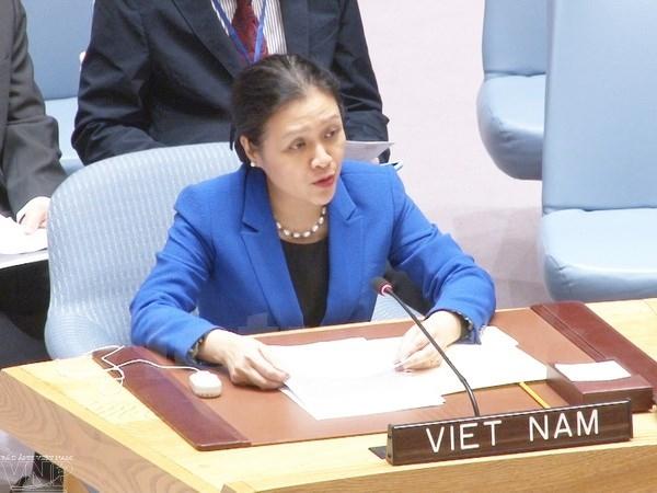 越南呼吁寻找结束以巴冲突及叙利亚内战的和平方案 hinh 0
