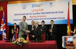 Memorandum of Understanding on the Newton Program Vietnam signed