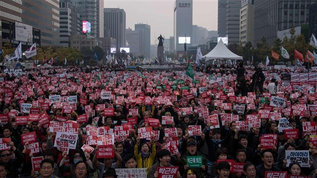 South Korean government calls on demonstrators to respect law