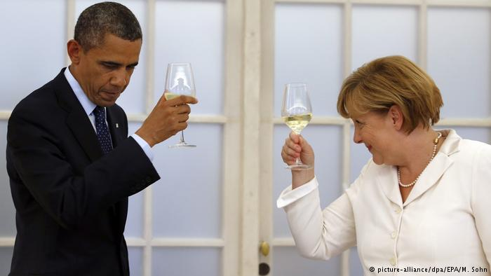 US President phones German chancellor before leaving White House