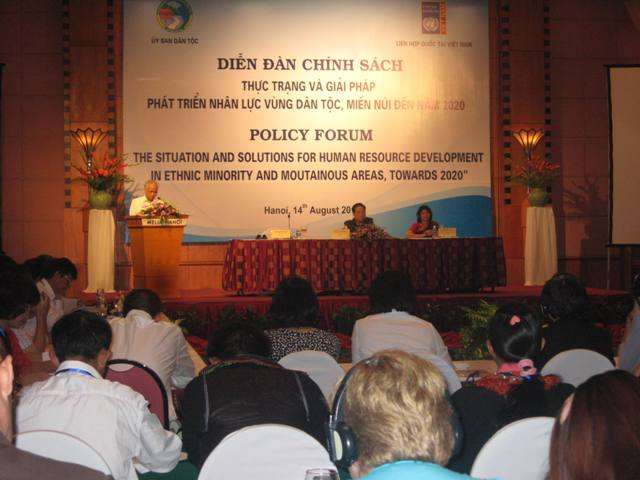Human resource development for ethnic minority and mountainous regions