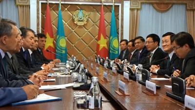 President Sang wraps up visit to Kazakhstan