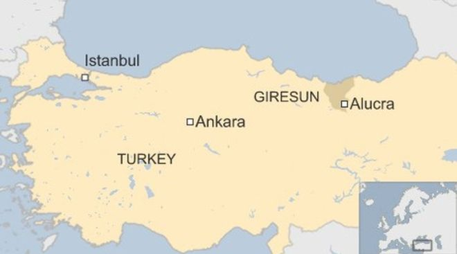Turkey: Military helicopter crashes near Black Sea