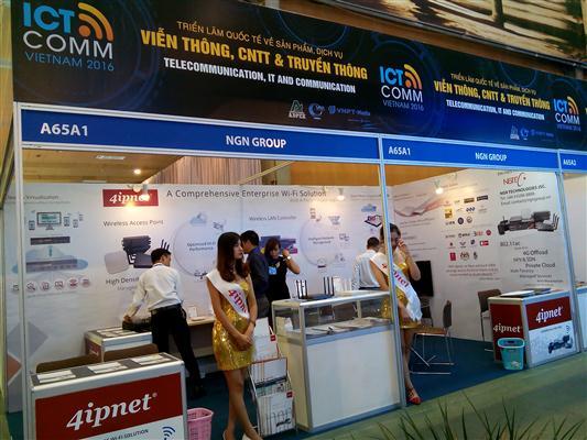 в ханое открылась международная выставка продукции и услуги в сфере телекоммуникации hinh 0