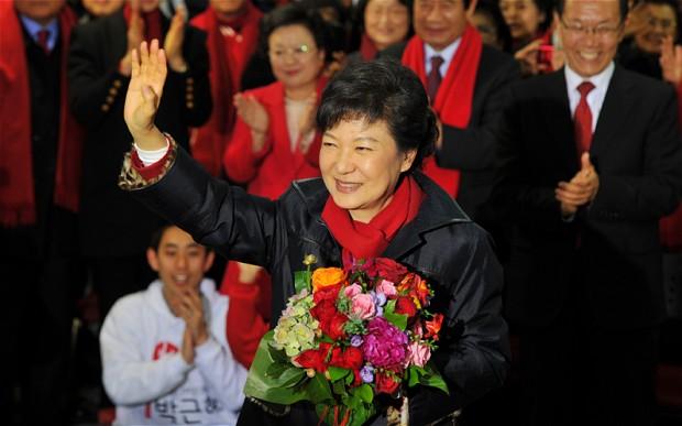 Park Geun-hye becomes South Korea's first female president