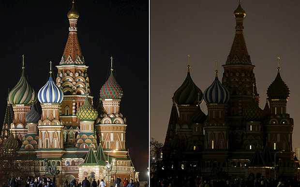 World cities respond to Earth Hour 2015