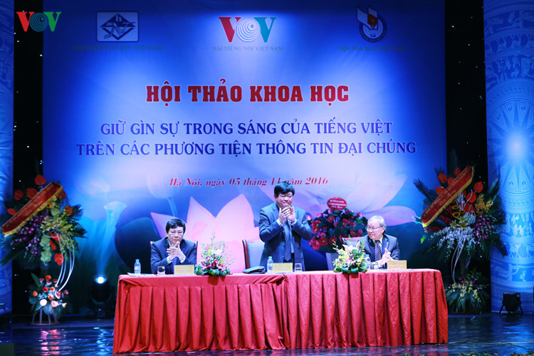 seminar on preserving vietnamese language on mass media concludes hinh 0