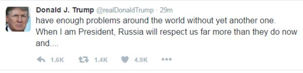 US President-elect blasts anti-Russia opinions
