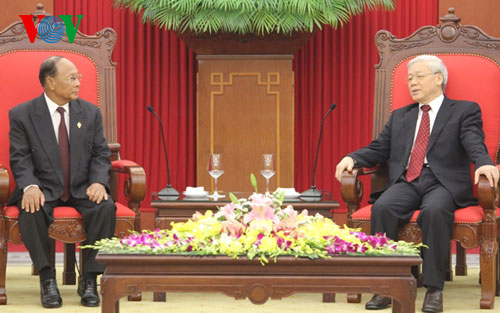Party leader, President receive Cambodia's National Assembly speaker