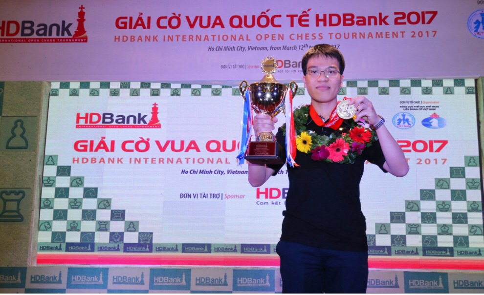 黎光廉夺得2017年胡志明市开发银行杯国际象棋公开赛冠军 hinh 0
