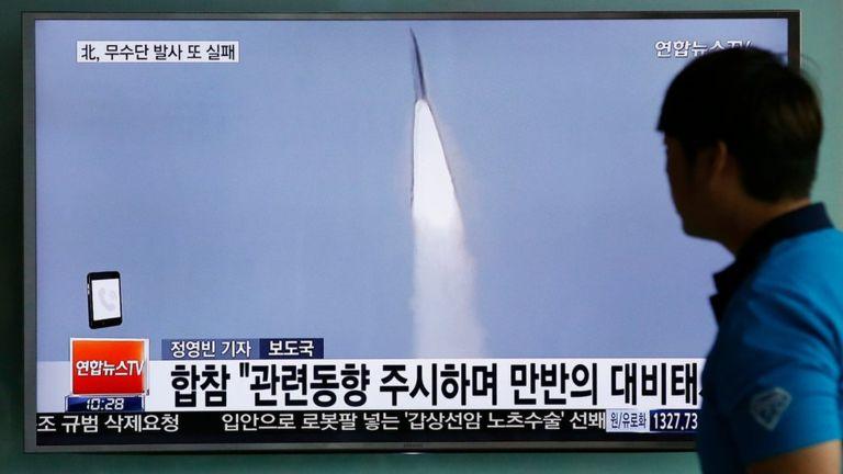North Korean missile launch fails
