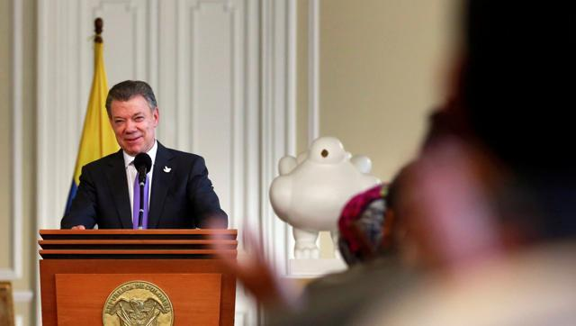 Colombia's President dedicates Nobel Peace Prize to conflict victims