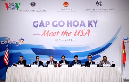 беседа «встреча с сша» способствует углублению вьетнамо-американских отношении hinh 0