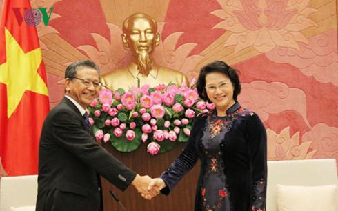 нгуен тхи ким нган приняла послов россии, японии и кубы во вьетнаме hinh 1
