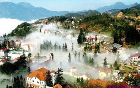 провинцию камау и курортныи город шапа посетили много туристов в дни тэта hinh 0