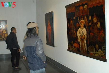 культ поклонения богине матери в лаковых картинах туан лонга hinh 2
