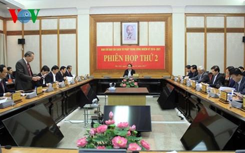 reunion du comite central de pilotage de la reforme judiciaire hinh 0