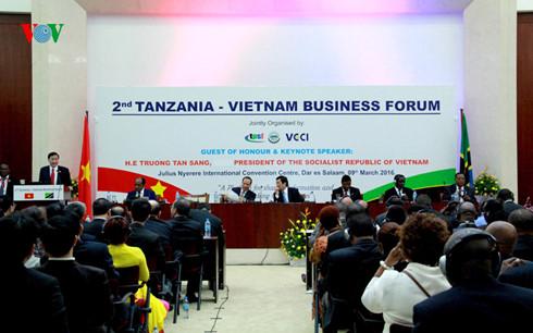 Forum d affaires vietnam tanzanie actualit s vov5 for Chambre de commerce vietnam
