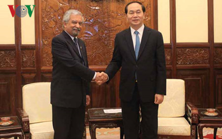 staatsprasident tran dai quang empfangt den leiter von undp in vietnam hinh 0