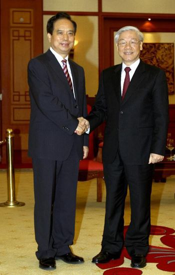 Party General Secretary Trong receives a Communist Party of China's delegation