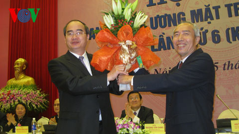 nguyen thien nhan elected president of vietnam fatherland front hinh 0