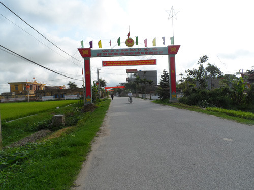 New rural development in Thuy Van commune, Thai Binh province Village life