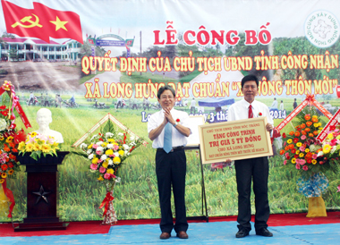 New rural development brings positive change to Long Hung Village life