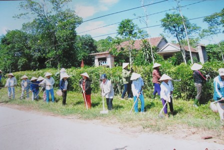Quang Tri women contribute to local new rural development Village life