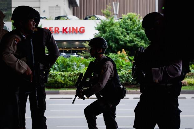 A terrorist attack in Jakarta, Indonesia kills at least 7 people