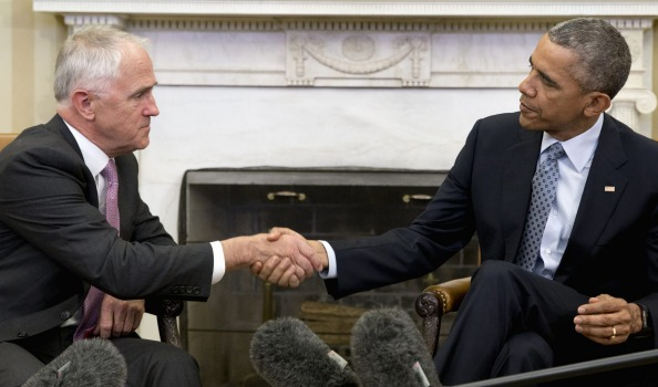 Turnbull and Obama talk of 'IS tumour' in White House meeting