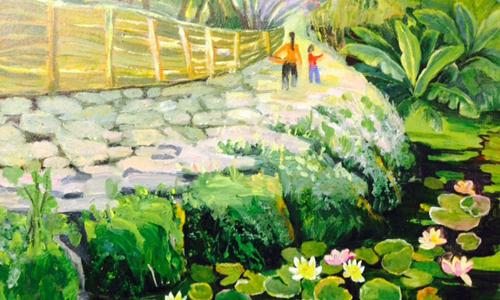 Lotus painting exhibition in Hanoi's Old Quarter Culture