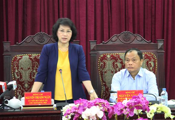 National Assembly Chairwoman works in Bac Kan