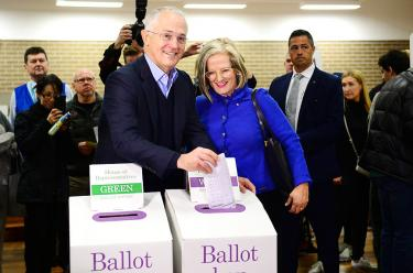 Preliminary result of Australia's federal election