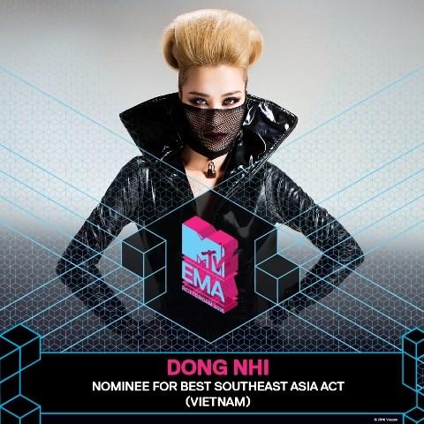 Pop star Dong Nhi wins Best Southeast Asian Act – EMA 2016