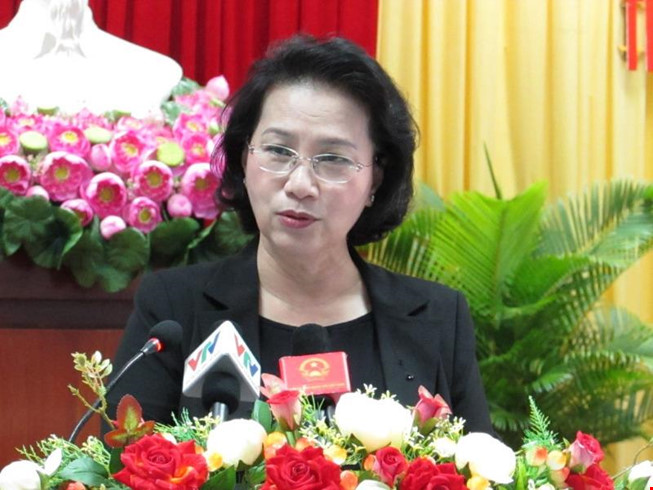 NA Chairwoman meets voters in Ninh Kieu, Can Tho